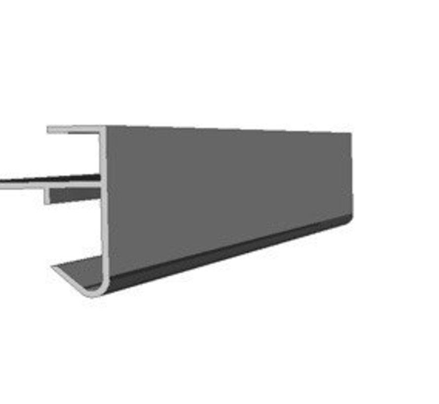 Daktrim buitenhoek 45 x 45 mm lengte 50cm - aluminium - op kleur