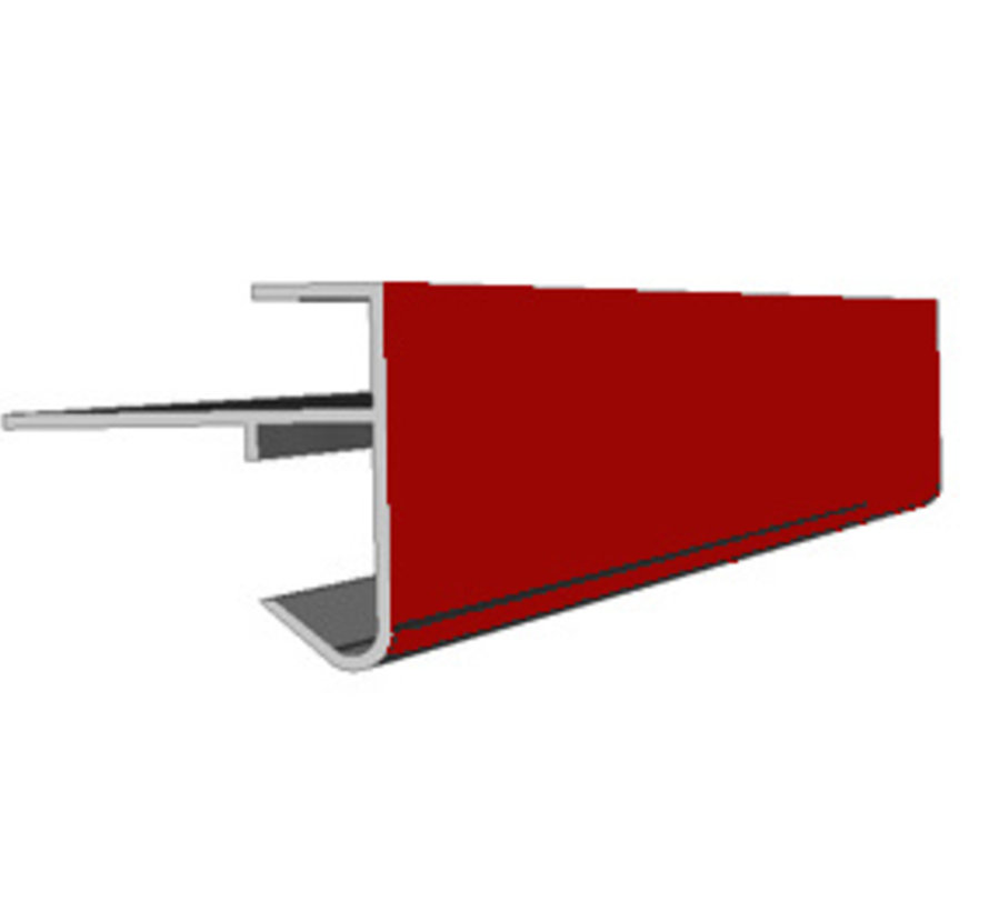 Daktrim buitenhoek 60 x 64 mm lengte 50cm op kleur