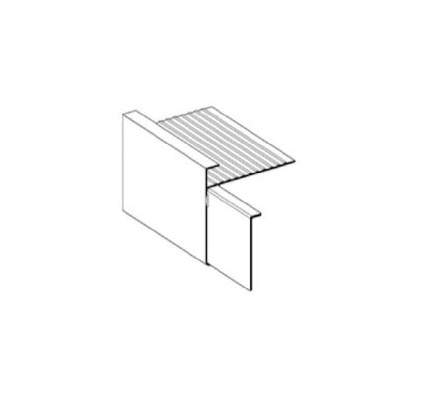 Verbindingplaatjes 45 mm voor aluminium daktrim op kleur