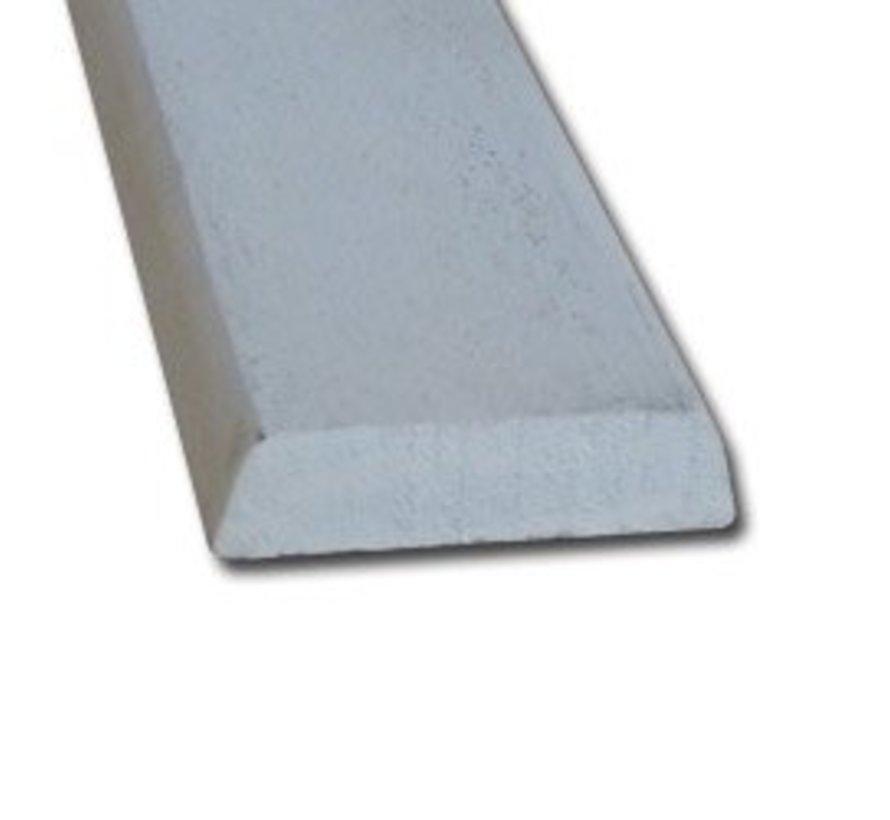 Koplat hardhout 13 x 45 mm schuin wit-gegrond 490cm