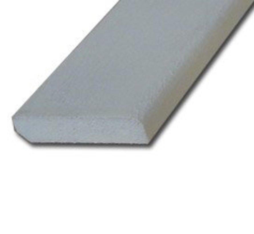Plint hardhout 9 x 45 mm wit-gegrond 490cm