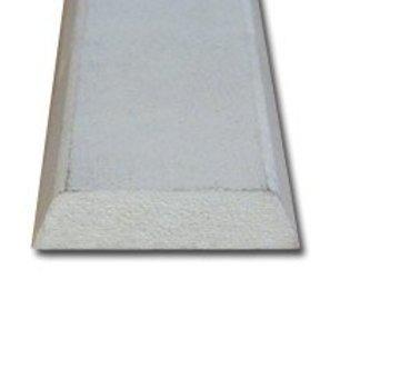 Koplat MDF 12 x 45 mm schuin wit-gegrond 488cm
