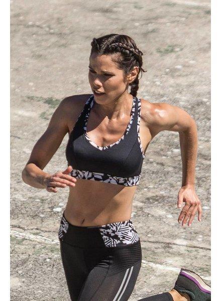Yvette Sport Top Ying Yang Black