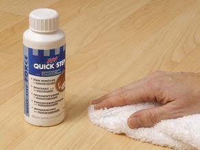 Vlekken verwijderen van laminaat of houten vloeren?