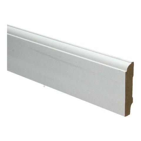 Whiteline plint kwartrondkraal 70x15 wit 16262