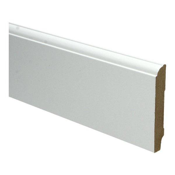 Whiteline plint kwartrondkraal 90x15 wit 16263