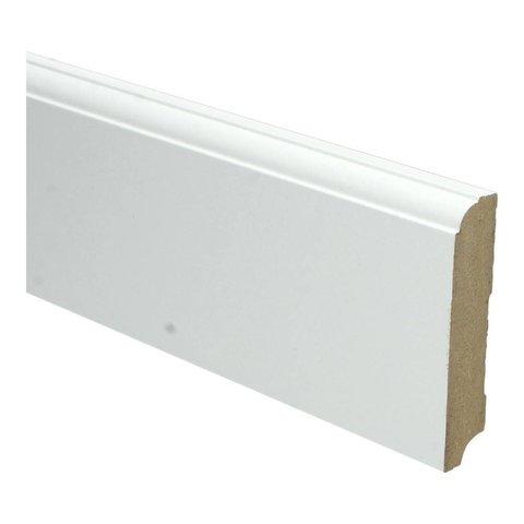 Whiteline plint kwartrondkraal 90x18 wit 16266