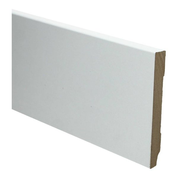 Whiteline plint recht 120x18 wit 16258