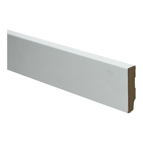 Whiteline plint recht 60x12 wit 16248