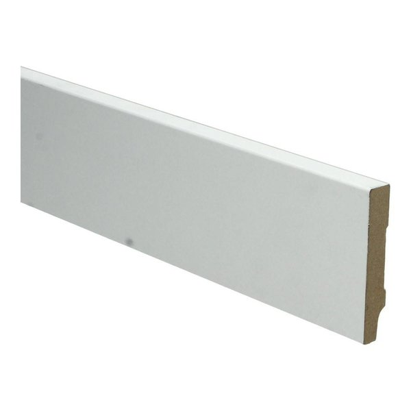 Whiteline plint recht 70x12 wit 16249