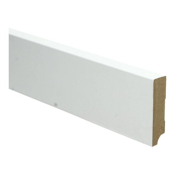 Whiteline plint recht 70x18 wit 16255