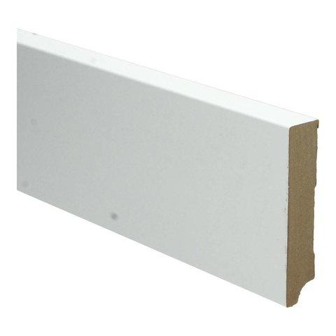 Whiteline plint recht 90x18 wit 16256