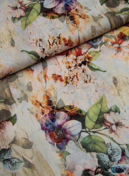 viscose - antique flowers