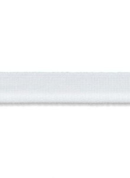 elastic piping white matt