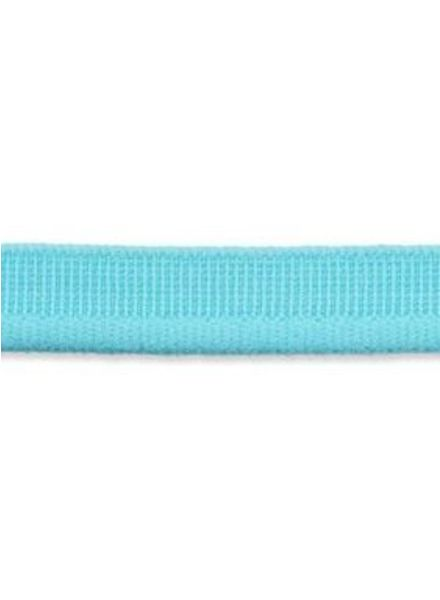 turquoise elastische paspel mat