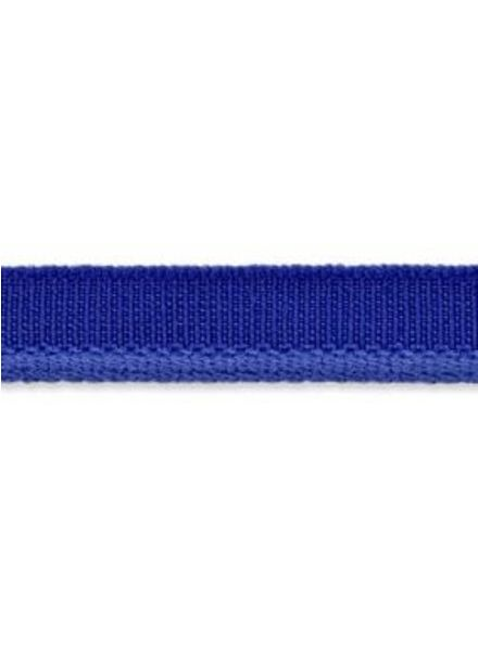 elastic piping cobalt blue matt