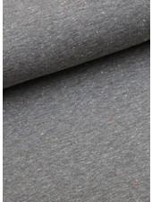 sweatstof  - gespikkeld grijs