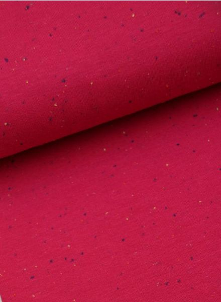 sweatstof - gespikkeld roze