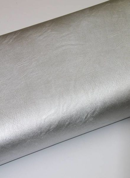 imitation leather - silver