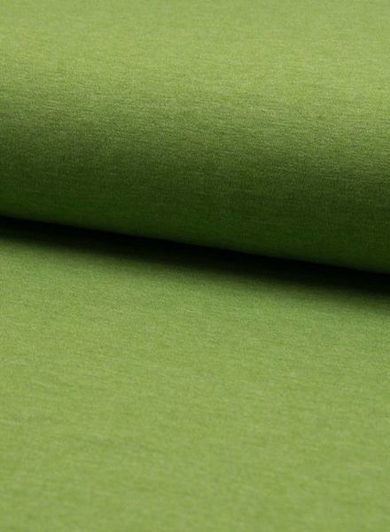 pistache melee effen tricot