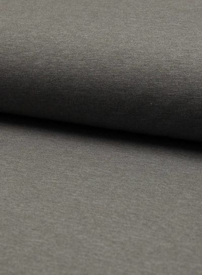 mid grijs melee effen tricot