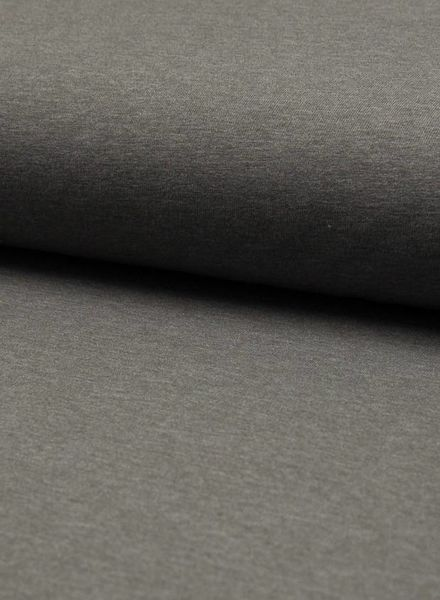 effen tricot - mid grijs melee