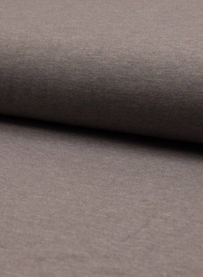 taupe melee effen tricot