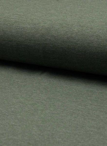 khaki melee effen tricot