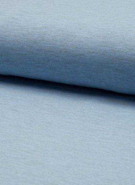 blauwe melee effen tricot