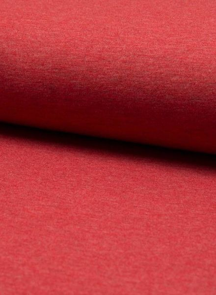 rood melee effen tricot
