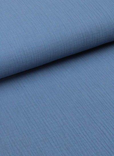 jeansblauwe tetra - double gauze