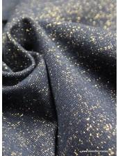 goud marineblauw glitter boordstof