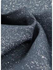 zilver marineblauw glitter boordstof