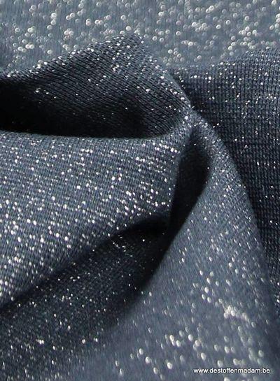 silver marine blue sparkly cuffs