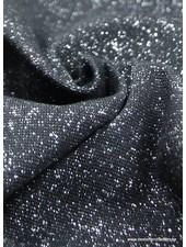 zilver zwart glitter boordstof