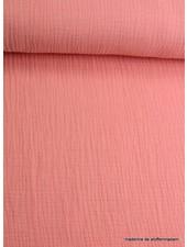 salmon tetra fabric  – double gauze
