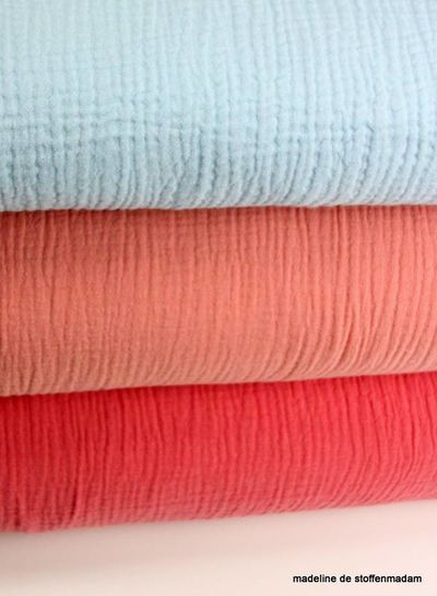 salmon tetra fabric  – double gauze