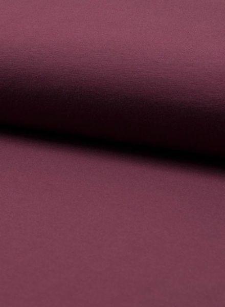 donker bordeaux - effen tricot