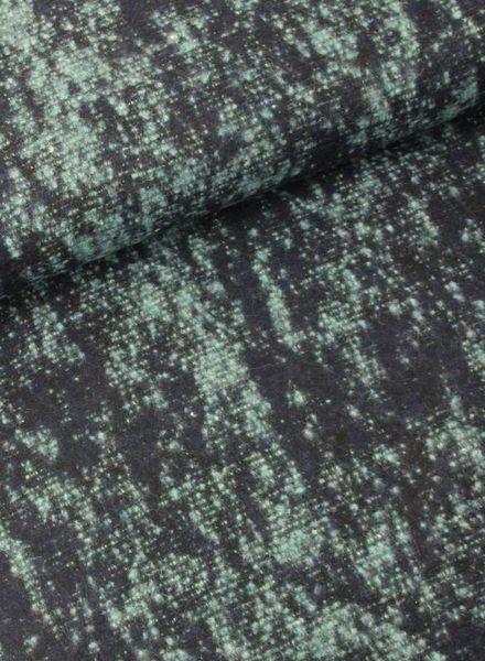 LMV green woollen coat fabric