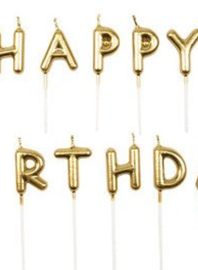 Happy Birthday Candles Gold