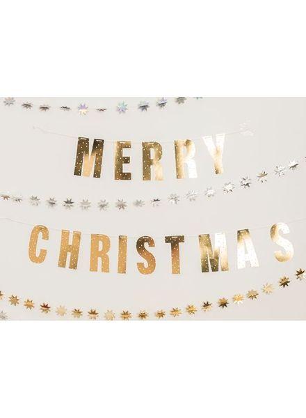 Merry Christmas slinger goud