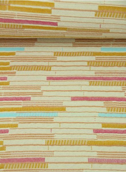 pastel striped - geweven jacquard