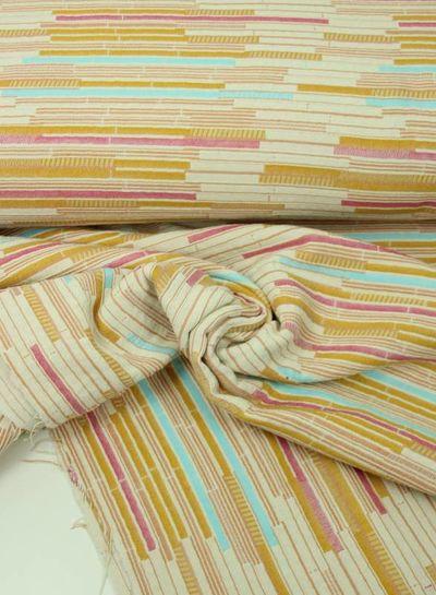 pastel striped - woven jacquard