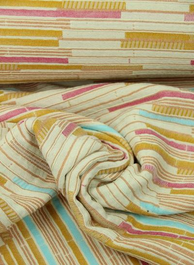 pastel striped - geweven jacquard