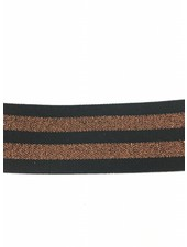 copper and black elastic