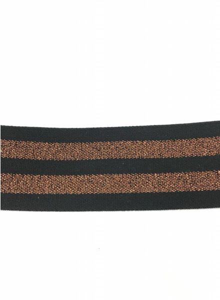 copper and black elastic