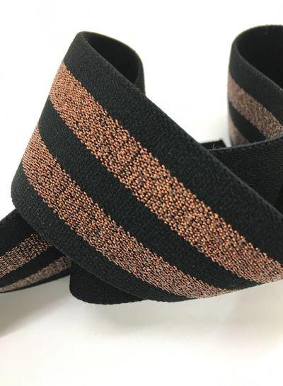 gestreept koper zwart zachte taille elastiek