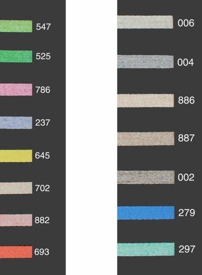 gemeleerde keperband in verschillende kleuren