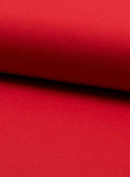 rood - effen tricot