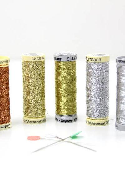 Gutermann copper glitter 50m